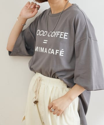 OUTLET(アウトレット) 【CIAOPANIC TYPY】【FAMIMA CAFE】プリントスリットTee