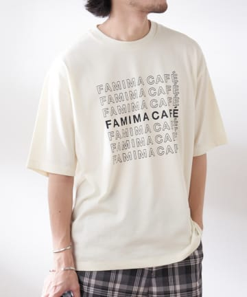 OUTLET(アウトレット) 【CIAOPANIC TYPY】【FAMIMA CAFE】ロゴプリントTee