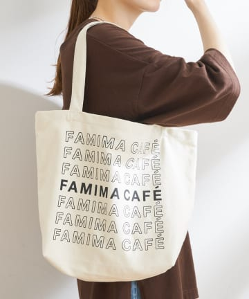 OUTLET(アウトレット) 【CIAOPANIC TYPY】【FAMIMA CAFE】ロゴトートバッグ