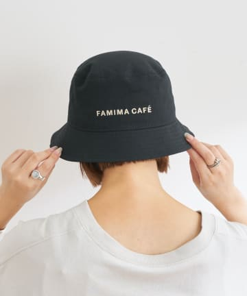 OUTLET(アウトレット) 【CIAOPANIC TYPY】【FAMIMA CAFE】ロゴ刺繍ハット
