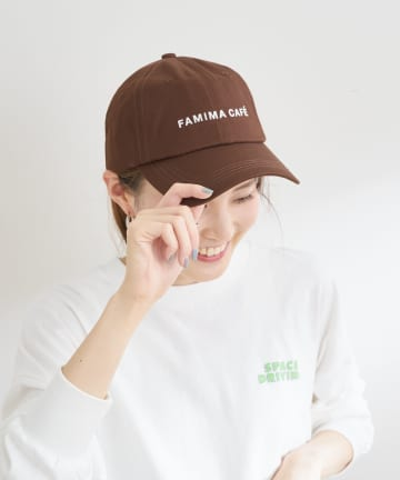 OUTLET(アウトレット) 【CIAOPANIC TYPY】【FAMIMA CAFE】ロゴ刺繍キャップ