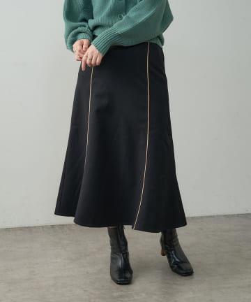 natural couture(ナチュラルクチュール) 配色パイピングスカート