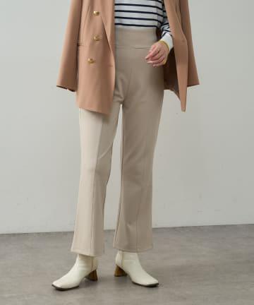 natural couture(ナチュラルクチュール) ハイウエストモクロディフレアパンツ