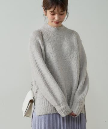natural couture(ナチュラルクチュール) 【着用動画あり】ふわもこブークレニット
