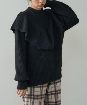 natural couture(ナチュラルクチュール) ほわほわラッフルフリルニット