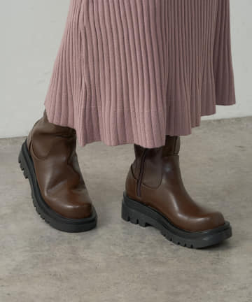 natural couture(ナチュラルクチュール) 厚底ロングブーツ