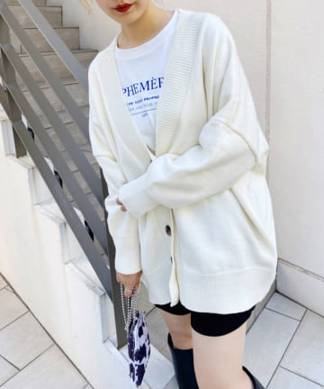 one after another NICE CLAUP(ワンアフターアナザー ナイスクラップ) 【web限定商品】ビッグシルエットカーディガン
