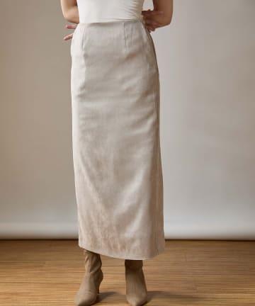 OUVRAGE CLASSE(ウヴラージュクラス) スェードタイトロングスカート