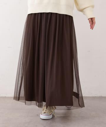 BONbazaar(ボンバザール) チュール×デシン リバーシブルスカート