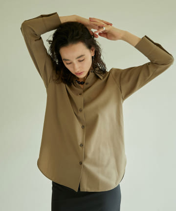 GALLARDAGALANTE(ガリャルダガランテ) ウーステッドファブリックシャツ
