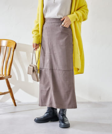 DOUDOU(ドゥドゥ) エコスウェードスカート