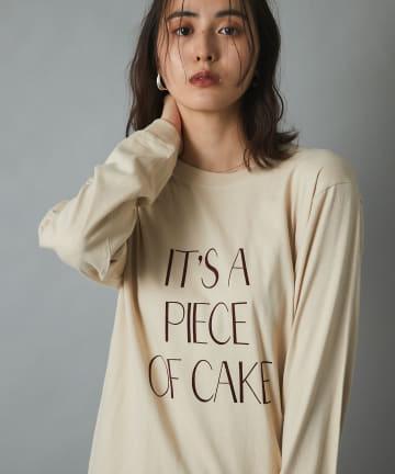 un dix cors(アンディコール) 【大人カジュアルの必須アイテム】フロッキーロゴ長袖ロングTシャツ