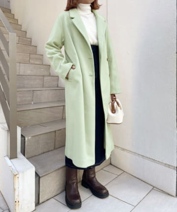 one after another NICE CLAUP(ワンアフターアナザー ナイスクラップ) 【web限定カラー有り】ロングチェスターコート