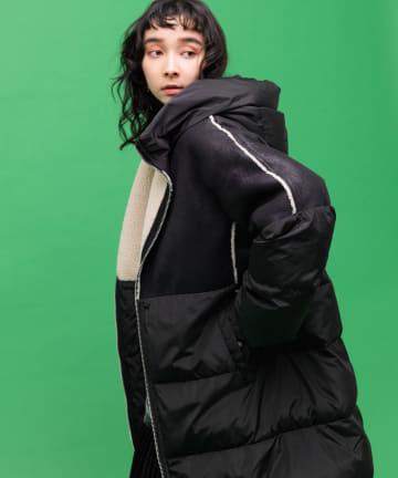 ear PAPILLONNER(イア パピヨネ) 【MONTEREGGI(モンテレッジ)】中綿ロングコート