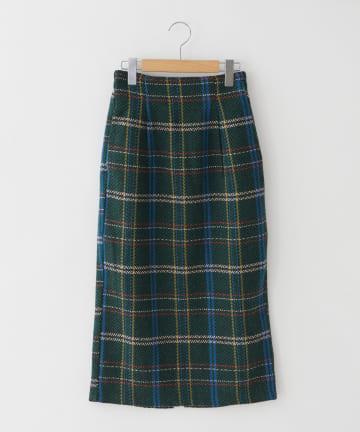 OLIVE des OLIVE OUTLET(オリーブ・デ・オリーブ アウトレット) フェイクウールチェックタイトロングスカート