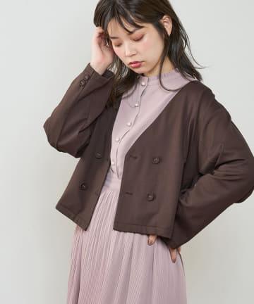 natural couture(ナチュラルクチュール) モクロディショートジャケット
