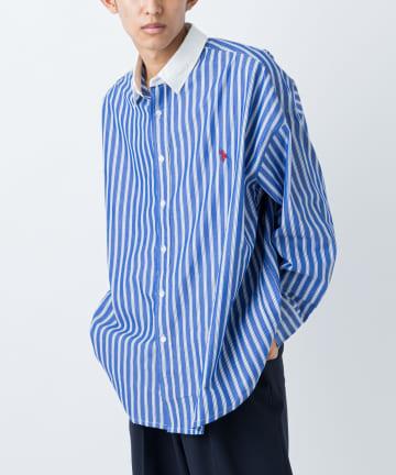 CIAOPANIC(チャオパニック) 【U.S. POLO ASSN. 】別注マルチテキスタイルビッグシャツ