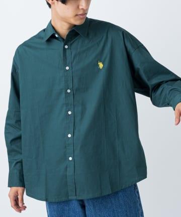 CIAOPANIC(チャオパニック) 【U.S. POLO ASSN. 】別注ブロード無地ビッグシャツ