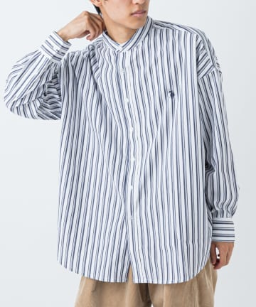 CIAOPANIC(チャオパニック) 【U.S. POLO ASSN. 】別注マルチストライプバンドカラービッグシャツ