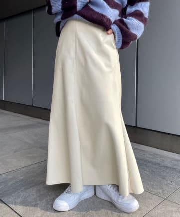 SHENERY(シーナリー) フェイクレザーマーメイドスカート