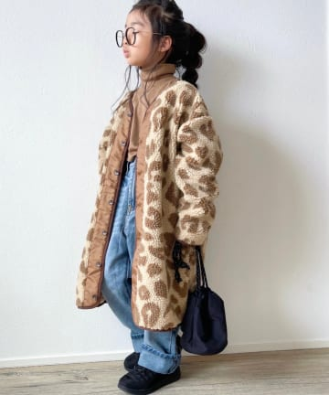 CIAOPANIC TYPY(チャオパニックティピー) 【KIDS】ボアミリタリーロングジャケット