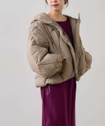 natural couture(ナチュラルクチュール) 【着用動画あり・WEB限定カラー有り】マイクロタフタダイヤキルト中綿ジャケット