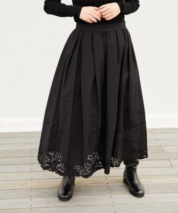 LIVETART(リヴェタート) 《sure feel》カットワーク刺繍スカート