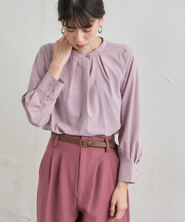 natural couture(ナチュラルクチュール) お上品タックブラウス