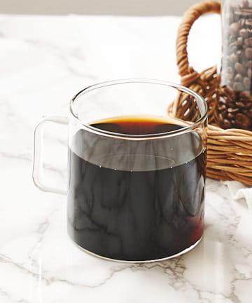 3COINS(スリーコインズ) 【自分で淹れる本格コーヒー】耐熱ガラスマグカップ