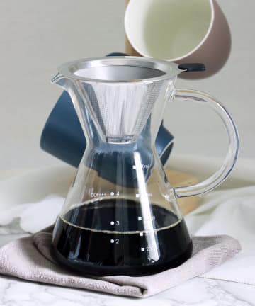 3COINS(スリーコインズ) 【自分で淹れる本格コーヒー】コーヒーサーバー:ステンレス