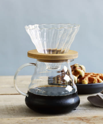 3COINS(スリーコインズ) 【自分で淹れる本格コーヒー】コーヒーサーバー:WOOD