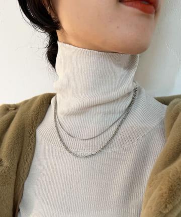 SHENERY(シーナリー) 【WEB限定】異素材チェーン2連ネックレス