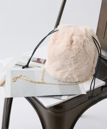COLONY 2139(コロニー トゥーワンスリーナイン) エコファー巾着バッグ/ショルダーバッグ