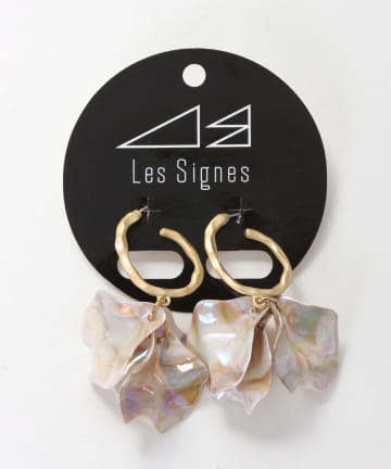 Lattice(ラティス) 【LesSignes】ニュアンスフラワーピアス