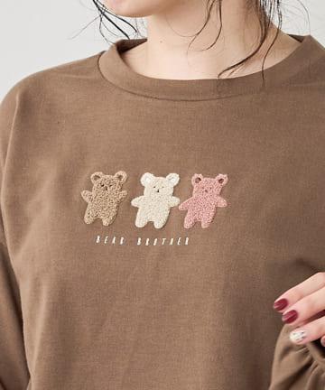 NICE CLAUP OUTLET(ナイスクラップ アウトレット) ゆるゆるクマ さがら刺繍PO