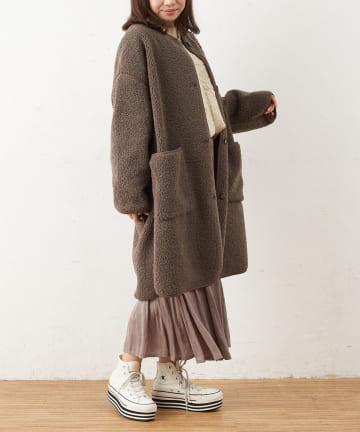 OLIVE des OLIVE OUTLET(オリーブ・デ・オリーブ アウトレット) 【dsf】No color Piping Coat
