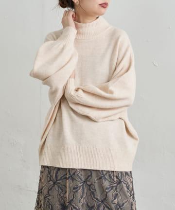 natural couture(ナチュラルクチュール) 杢調ほっこりカラーニット