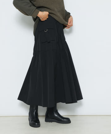 RIVE DROITE(リヴドロワ) 【コーディネートに新鮮さをプラス】サイドポケットギャザースカート