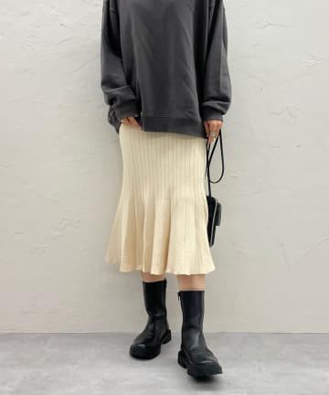 DOUDOU(ドゥドゥ) 【WEB限定】マーメイドニットスカート