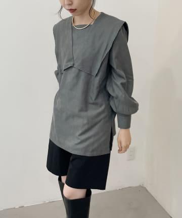 CAPRICIEUX LE'MAGE(カプリシュレマージュ) スクエアカラーシャツ