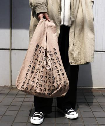 3COINS(スリーコインズ) 【ASOKO】【buggy】キャンバスエコバッグ