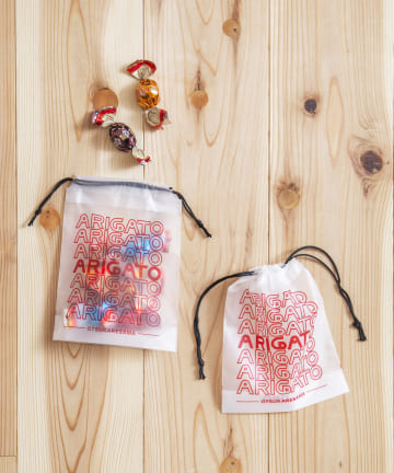 3COINS(スリーコインズ) 【ASOKO】【OMIYAGE】ビニール巾着10枚セットLサイズ