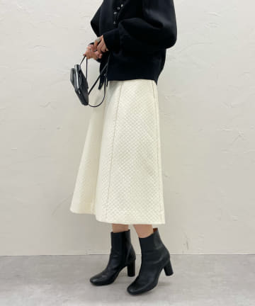 DOUDOU(ドゥドゥ) 【WEB限定】キルティングスカート