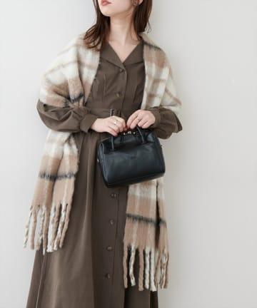 natural couture(ナチュラルクチュール) リサイクルポリチェックストール