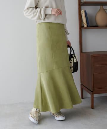 Discoat(ディスコート) フェイクスエードマーメイドスカート