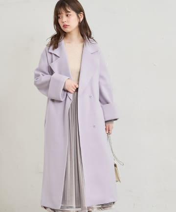 natural couture(ナチュラルクチュール) 【着用動画あり】着流しテーラードコート