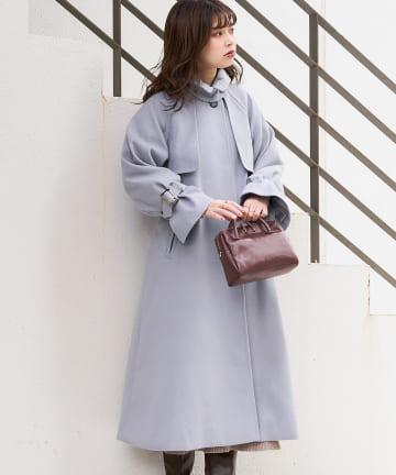 natural couture(ナチュラルクチュール) 【着用動画あり・WEB限定カラー有り】スタンドカラー2WAYおしゃれコート