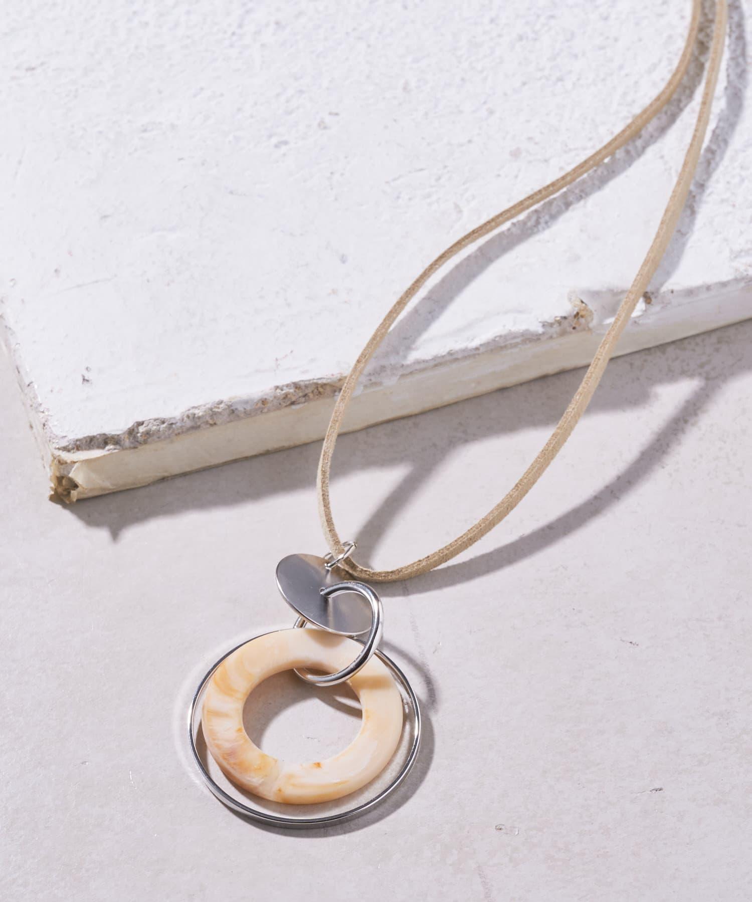Pal collection(パルコレクション) レディース 【ネックレス】重ねリングネックレス アイボリー