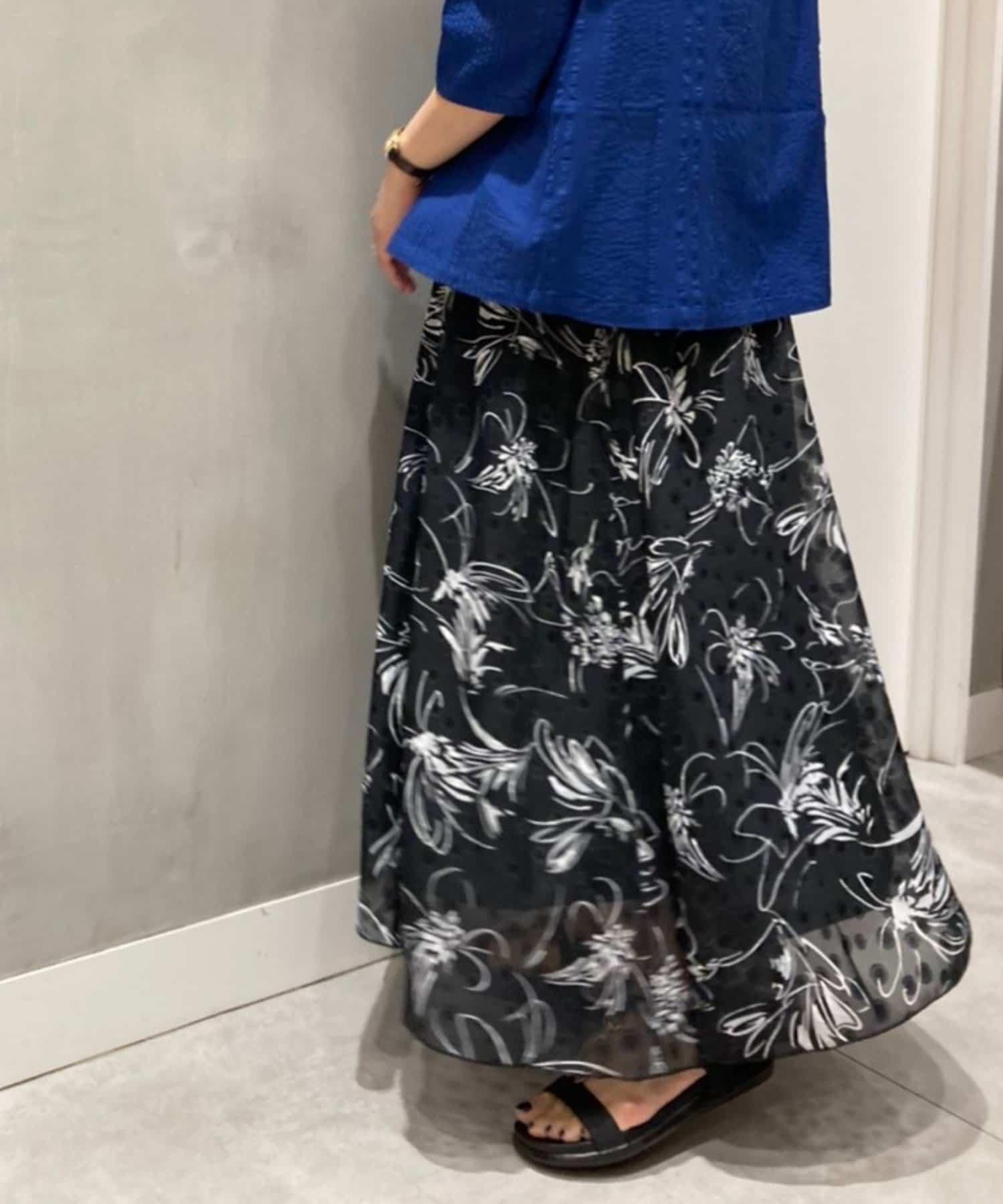 Pal collection(パルコレクション) 《涼し気シアー》ボタニカルスカート