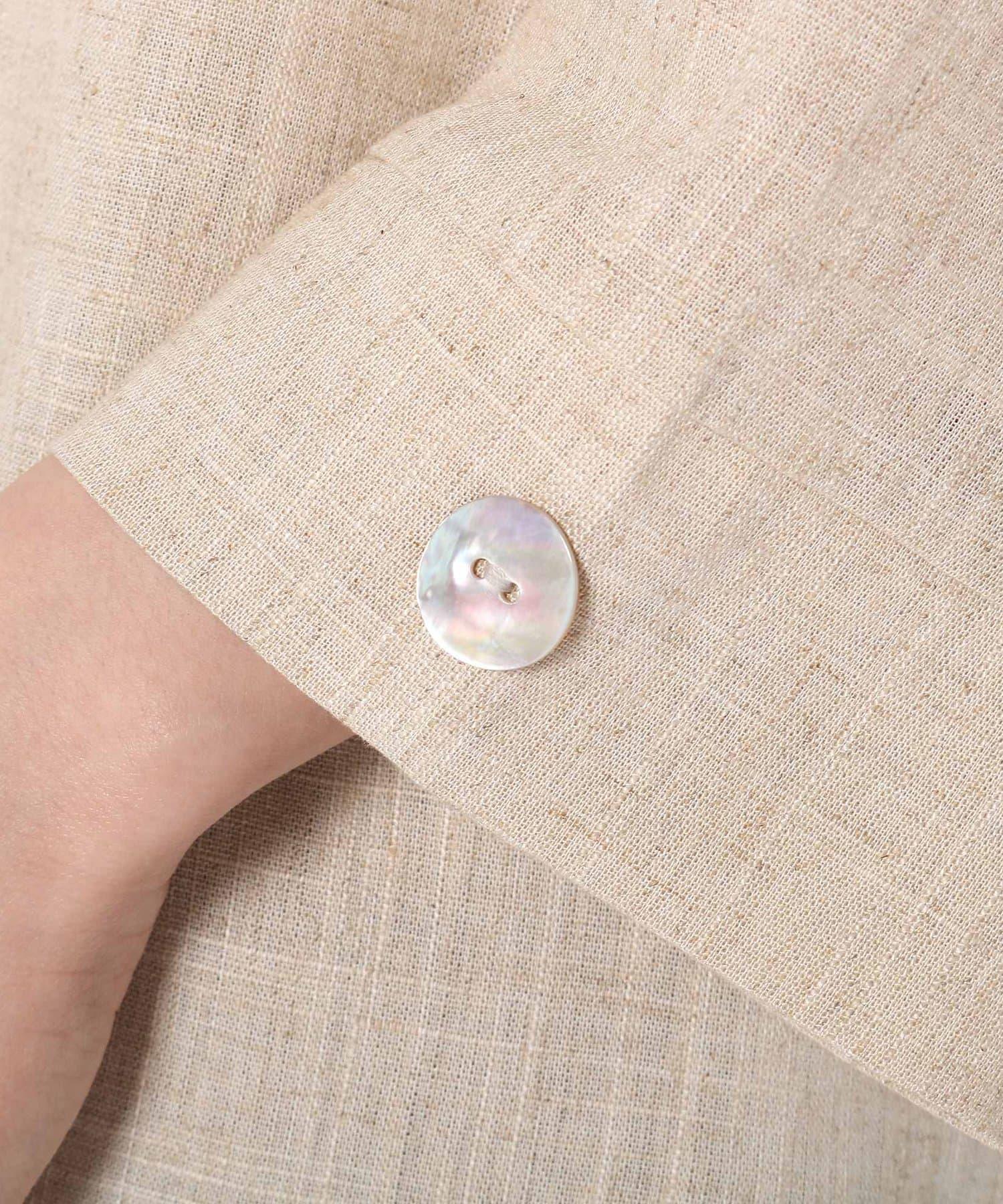 Pal collection(パルコレクション) 《安心の7分袖》麻混7分袖トップス